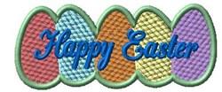 Multicolor Easter Eggs embroidery design