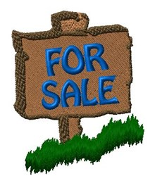 For Sale Sign embroidery design