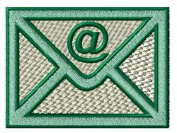 Email Letter embroidery design