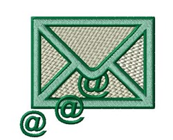 Internet Email embroidery design