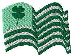 Irish American Flag embroidery design