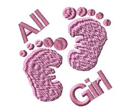 All Girl embroidery design