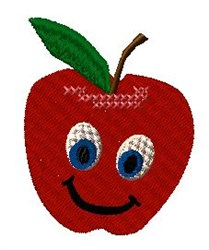 Animated Apple embroidery design