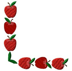 Corner Apples embroidery design