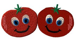 Animated Tomatos embroidery design