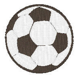 Soccerball embroidery design
