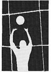 Volleyball  Set embroidery design