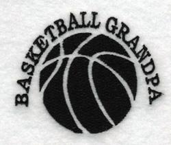 Basketball Grandpa embroidery design