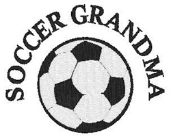 Soccer Grandma embroidery design