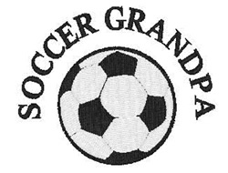 Soccer Grandpa embroidery design