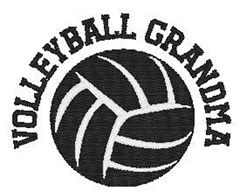 Volleyball  Grandma embroidery design