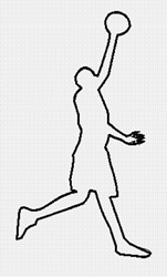 Outline Basketball Player embroidery design