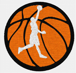 Basketball With Player embroidery design