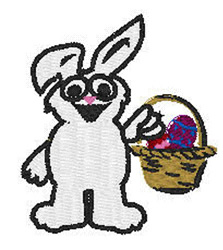 Bunny With Easter Basket embroidery design