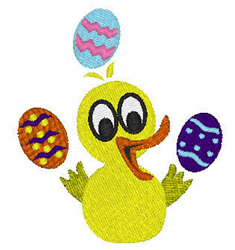 Rubber Duckie Juggling embroidery design