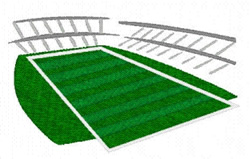 Football Stadium embroidery design