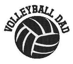 Volleyball Dad embroidery design