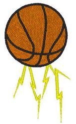 Lightning Basketball embroidery design