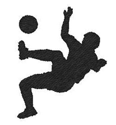 Soccer Silhouette embroidery design