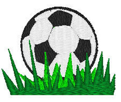Soccerball In Grass embroidery design