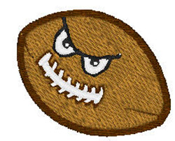 Animated Football embroidery design