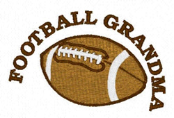 Football Grandma embroidery design