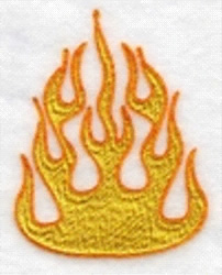 Flame embroidery design