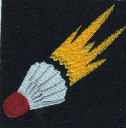 Badminton Birdie embroidery design