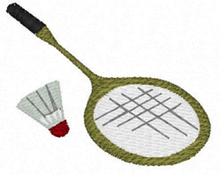 Badminton embroidery design
