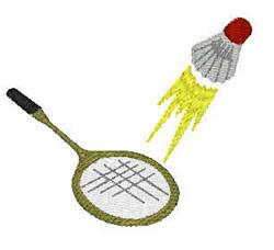 Badminton Flying Birdie embroidery design