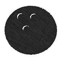 Bowling Ball embroidery design