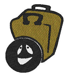 Bowling Ball And Bag embroidery design
