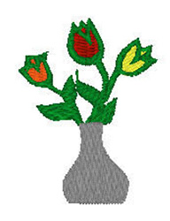 Picnic Tulip Flowers embroidery design