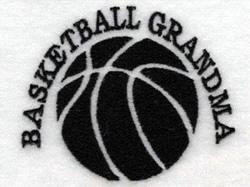 Basketball Grandma embroidery design