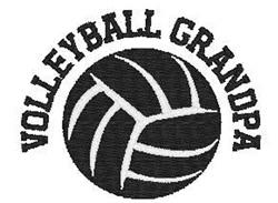 Volleyball  Grandpa embroidery design