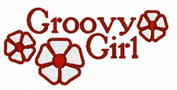 Groovy Girl embroidery design