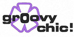 Groovy Chic embroidery design