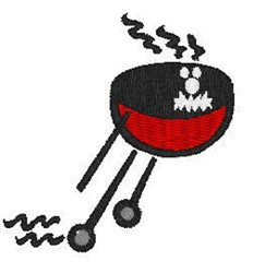 Running BBQ embroidery design