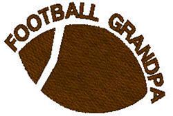 Football Grandpa embroidery design