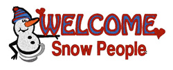 Welcome Snow People embroidery design