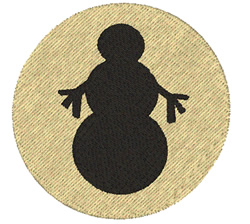 Simple Snowman embroidery design