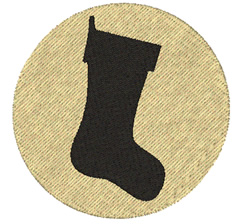 Simple Stocking embroidery design
