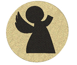 Simple Angel embroidery design