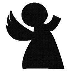 Plain Angel embroidery design