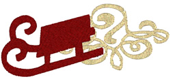 Simple Sled embroidery design