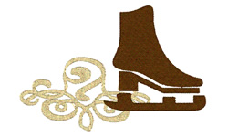 Skate On Ice embroidery design