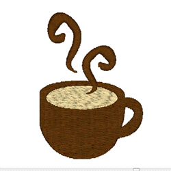 Hot Chocolate Cup embroidery design