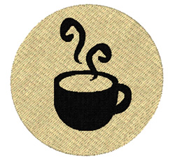 Hot Chocolate sihlouette embroidery design