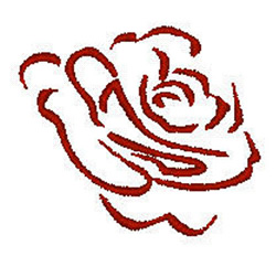 Open Rose embroidery design