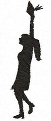 Graduate Girl embroidery design